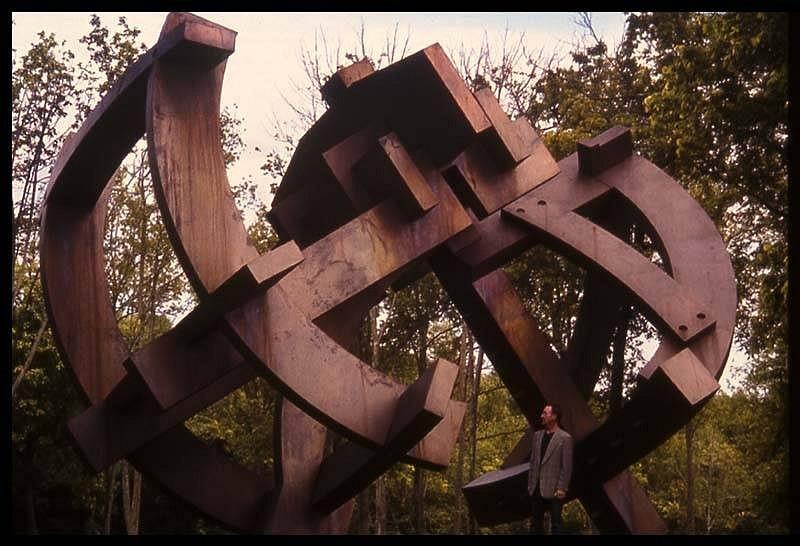 Michael Dunbar, Euclid's Cross 2004, bronze