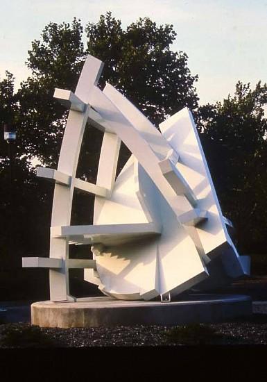Michael Dunbar, Chicago Dayton Transit 2004, painted steel