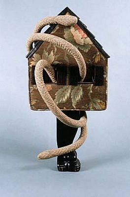 Breon Dunigan, Memory House II 1991, wood, fabric