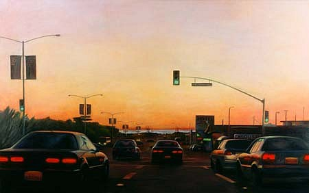 Jessica Dunne, Sloat at Sunset 1996, oil on linen
