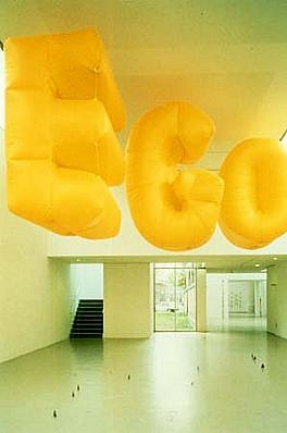 Nancy Dwyer, Big Ego 1990, poly coated nylon