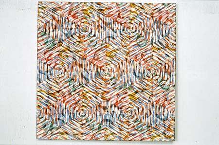 Liz Coats, Lattice #12 1995, pigment & acrylic on canvas