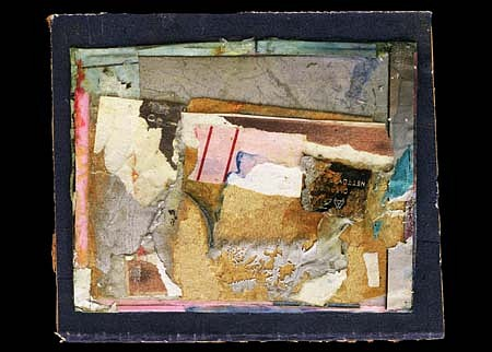 Harvey Cohen, Vantage 2004, collage and acrylic