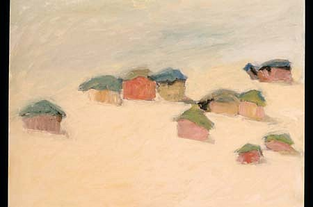 Barbara Cohen, Desert Winds 1989, oil on paper
