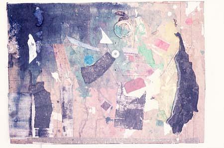 Harvey Cohen, Celestial Garden 1986, collage, ink, acrylic