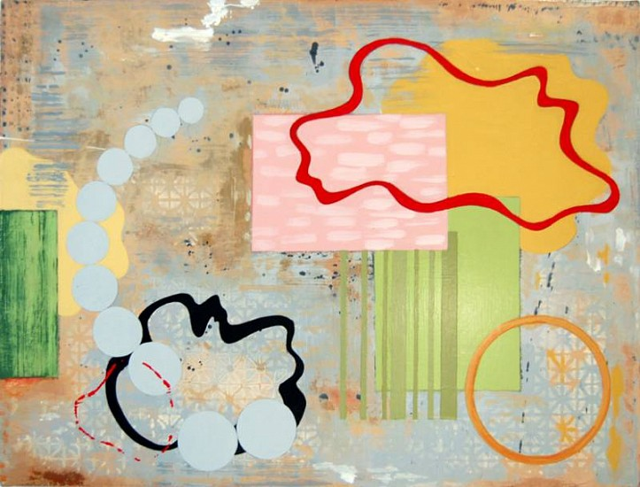 Pat Colville, Ways and Means XI 2008, acrylic on canvas on panel