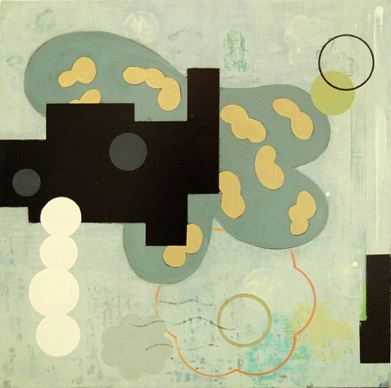 Pat Colville, Ways and Means I 2007, acrylic on canvas on panel