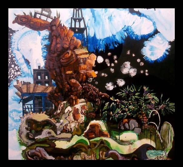 Elisabeth Condon, Bent Mountain 2007, acrylic, oil on linen