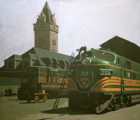 Thomas Connolly, Union Station 1995, acrylic on canvas