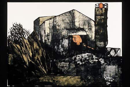 Robert Connell, Gravel Plant 2004, sumi ink and gouache on paper