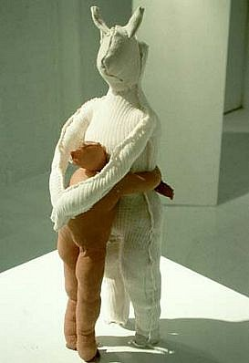 Eric Conrad, Couple #7 2002, fabric, steel