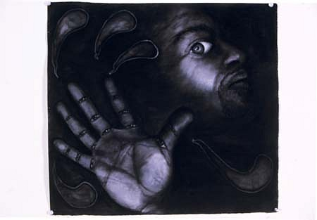 Antonio Coro, I Put a Spell on You 2004, paper, charcoal, white conte