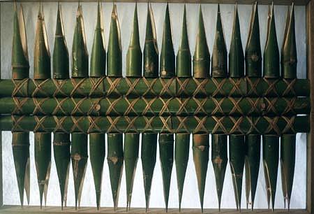Allan Cosio, Untitled 1986, bamboo