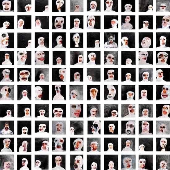 Mauricio Costa, Portrait Spoken 2008 - 2009, mixed media on canvas
