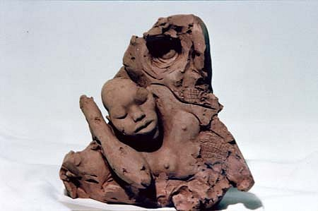 Virginia Cox, Sleeping in the Sun 1988, terracotta