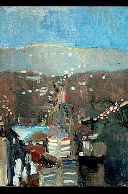 Megan Craig, Brooklyn 2001, oil on canvas