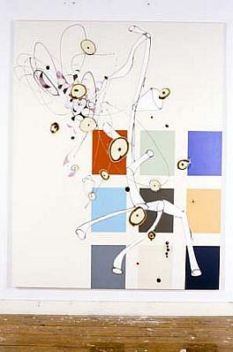David Craven, Close Call 2003, acrylic, paper on canvas