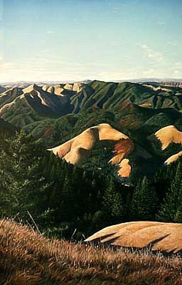 Thomas Creed, 8 Ridges 1997, oil