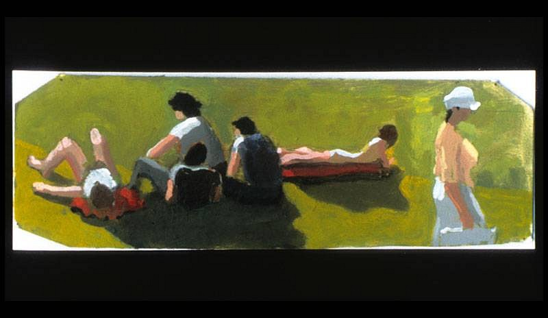 Bill Creston, 6 Figures 2006, oil on cardboard