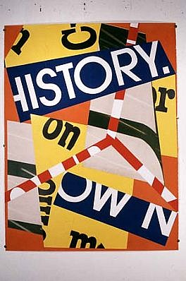 Cris Cristofaro, Own History 1988, collage, billboard posters on paper, acrylic