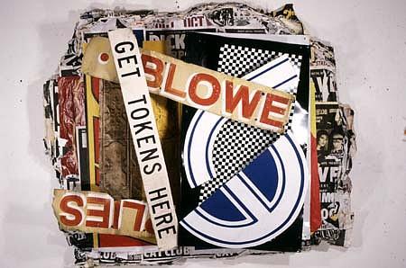 Cris Cristofaro, Hot Air 1988, billboard posters, tin, steel, acrylic