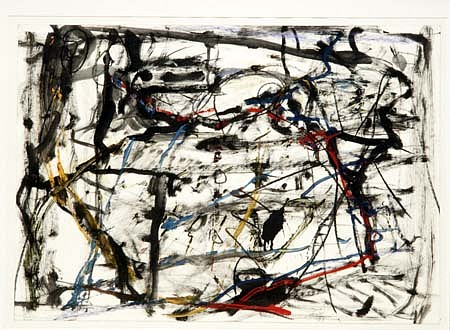 Eugenijus Cukermanas, Untitled 1995, mixed media on paper
