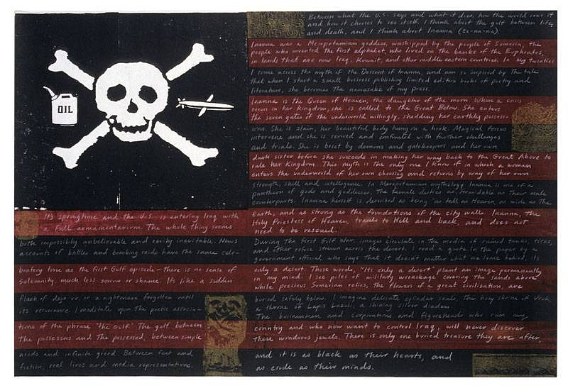 Maureen Cummins, The Flag Project 2006, silkscreen print