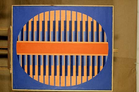Anna Cyronek Kalinowska, AB Ellipse 1969, oil on canvas
