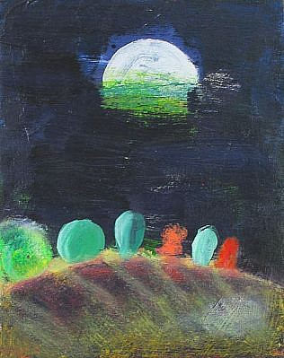 Katherine Bradford, Moon Drops 2004, oil on canvas