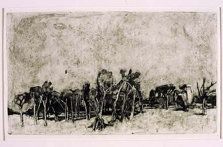 Barbara Brainard, Outside Hattiesburg 2005, monotype