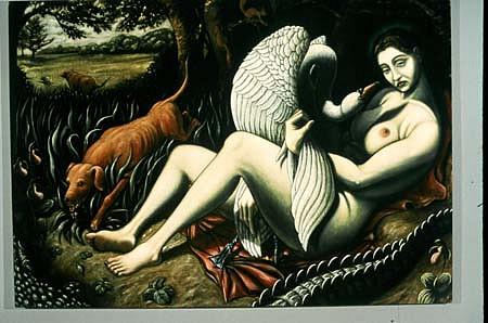Stephen Burt, Leda 1999, oil on canvas