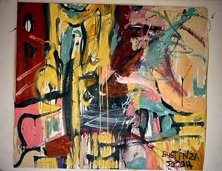 Alfredo Bustinza, My Studio 2004, tar, enamel, spray