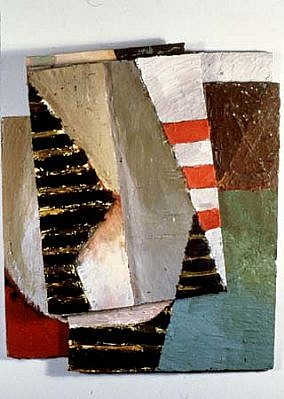 Sharon Butler, Buoy 1988, oil on wood construction