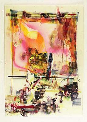 Leonard Bullock, Hexenlied 2001 - 2002, oil, encaustic, ploymer, spray on polystyrol