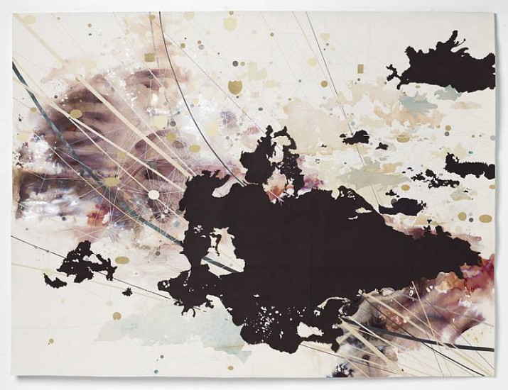 Valerie Britton, String Theory 2009, ink, collage, graphite and gouache on paper