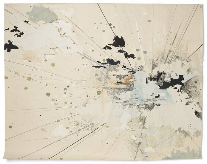 Valerie Britton, Under the Ruptured Sky 2010, ink, graphite and collage on paper