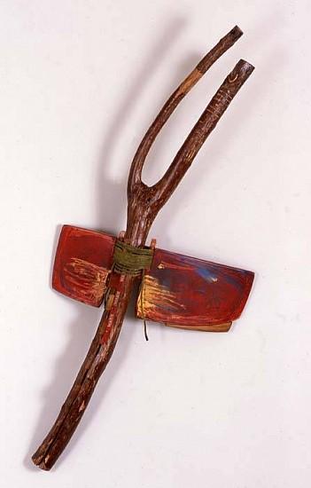 Richard Brunner, Warn 2005, wood, mixed media