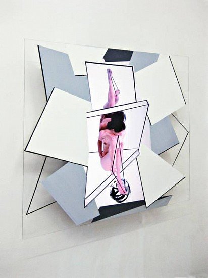 Sean Branagan, Construct in the Mind of a Sceptic 2010, acrylic paint, perspex, LCD screen (moving image)