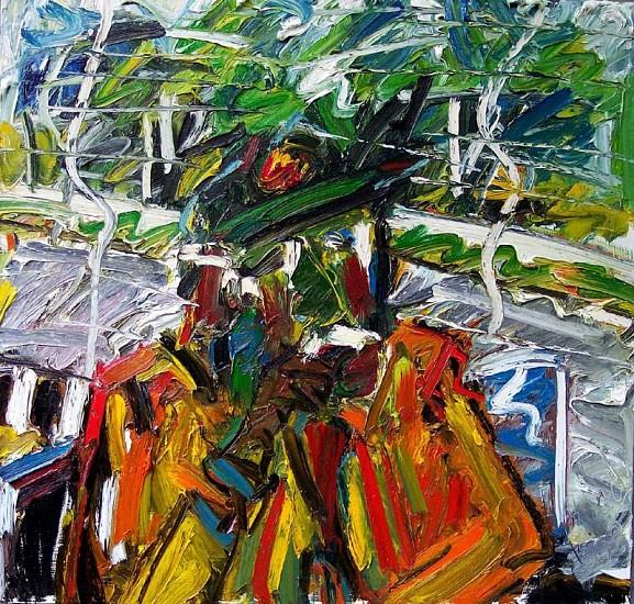 Thomas Brady, Man by the Window 2008, oil on masonite