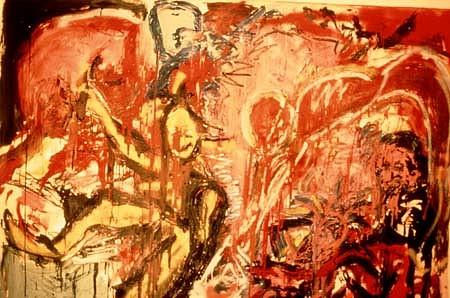 Alfredo Bustinza, Untitled 1984 - 1985, charcoal, acrylics, oil sticks