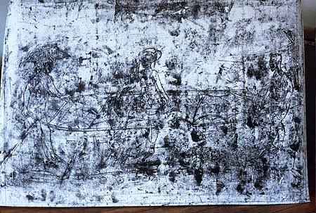 Grzegorz Bienias, Gray Zone 2004, acrylic, oil, monotype, paper