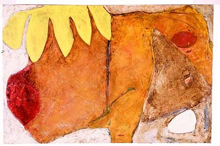 Stephanie Bird, Fern Fossil 1995, oil on canvas