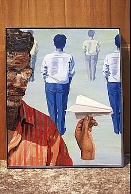 Rajarshi Biswas, Day Dreamer 2003, acrylic on canvas
