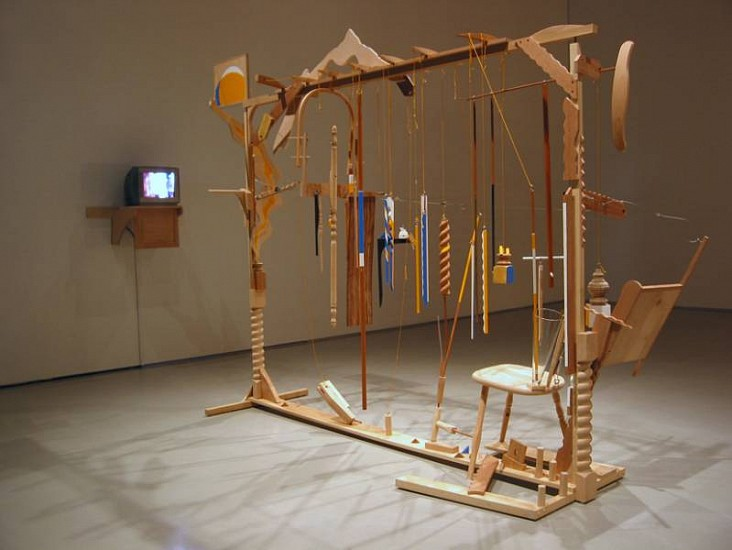 Richard Bloes, Chair Back 2003 - 2004, wood, mixed media
