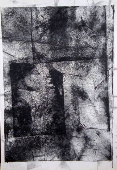 Stanislav Bojankov Stanko, Monument II 2006, drawing, self-media, monoprint, pencil