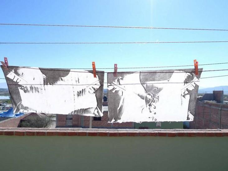 Marisa Boullosa, White Dresses 2010, solar plates in Japanese paper