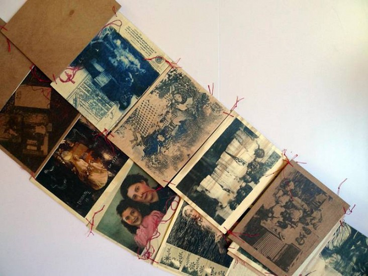 Marisa Boullosa, Family Album 2010, print on wood