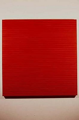 Jonathan Bowker, Red Light 1995, oil on wood construction