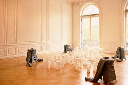 Nina Bachhuber, Untitled 2000, paper, fabric, wood