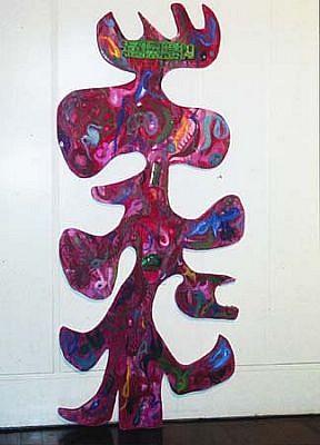 Sonia Baez Hernandez, Red 2005, mixed media on wood